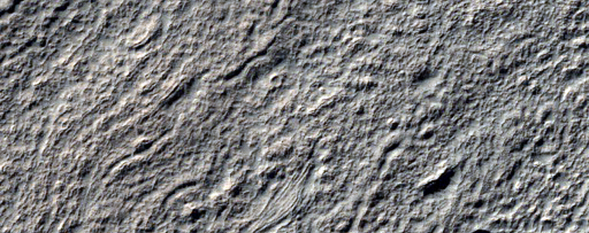 Crater Features East of Reull Vallis