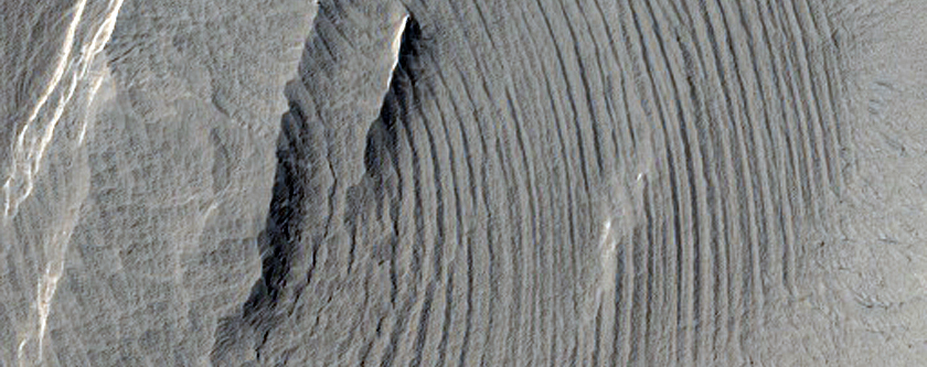 Layered Deposits on a Crater Floor