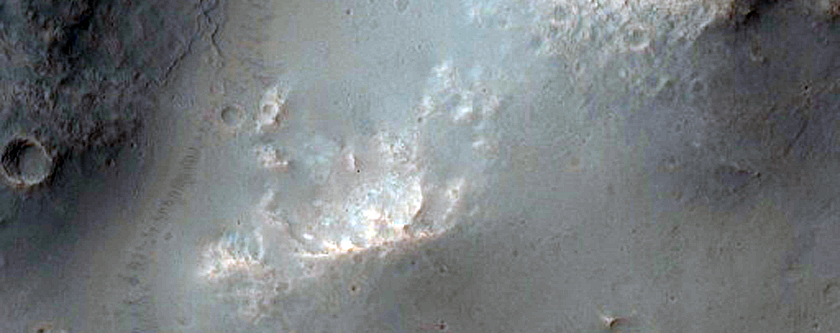 Impact Crater with Rampart Ejecta