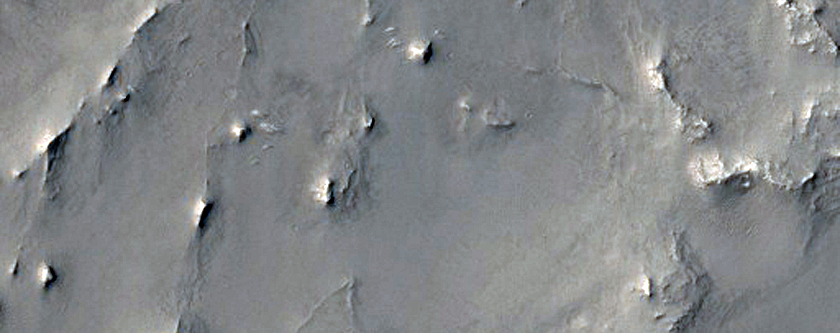 Terrain Inside Northwest Arabia Terra Crater
