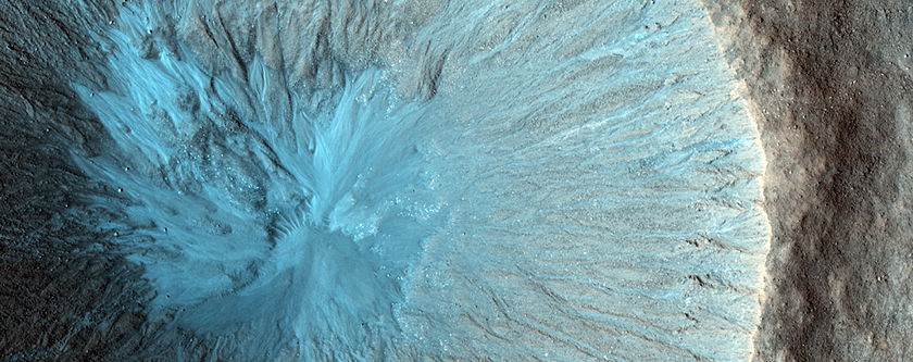 A Youthful Crater and Its Ejecta