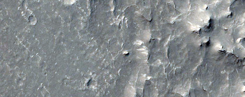 Landforms of Southern Elysium Planitia North of Gale Crater