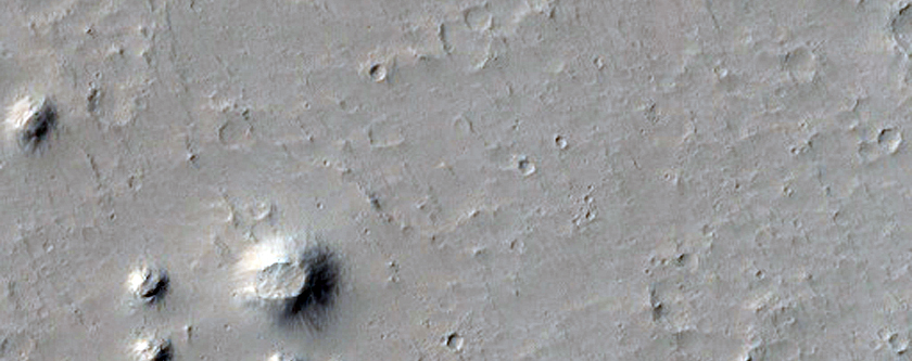 Rootless Cone Intersecting Crater Rim
