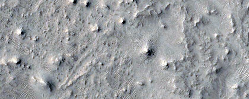 Craters and Mesas in Northeast Arabia Terra