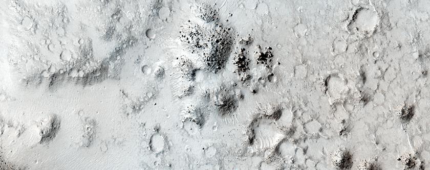 Eroded Terrain Near Volcanic Fissures