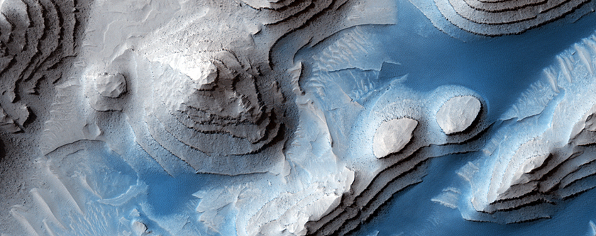Layered Sediments in Danielson Crater