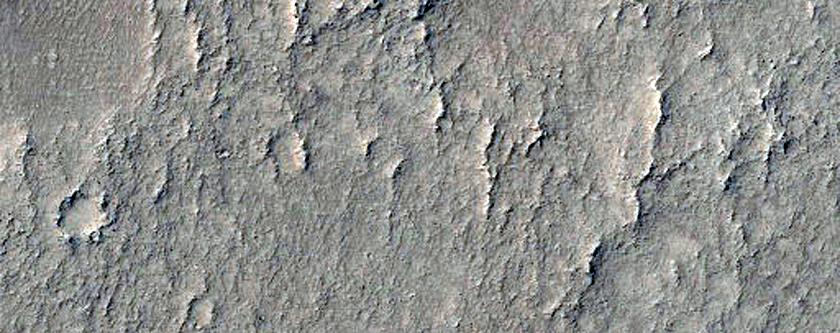 Terrain in Northwest Arabia Terra