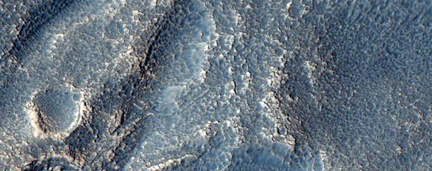 Channels on Mesa in Deuteronilus Mensae