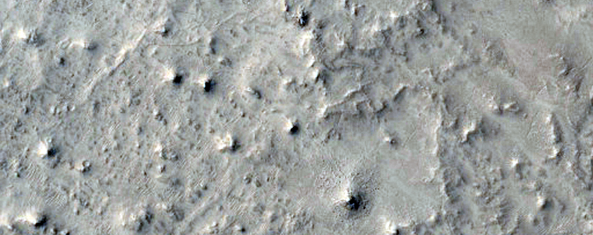 Craters and Mesas in Northeast Arabia Terra