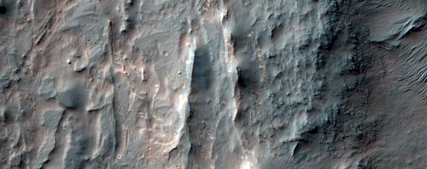 Light-Toned Unit along Coprates Chasma Floor