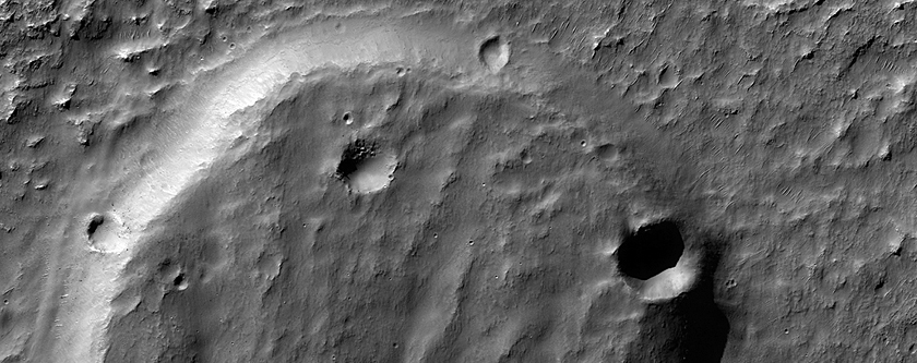 Landslides in an Impact Crater