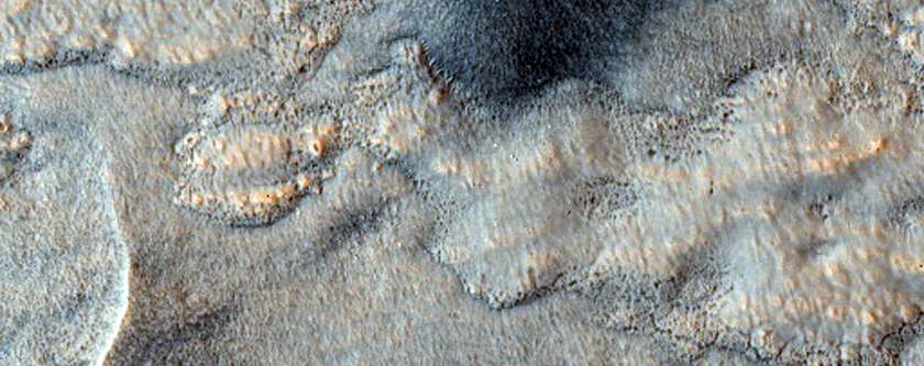 Terrain with Layered Material and Circular Pits