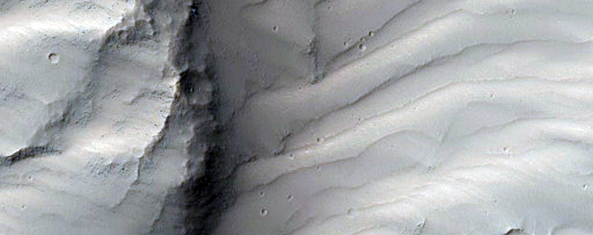 Landslide Scarp in Valles Marineris