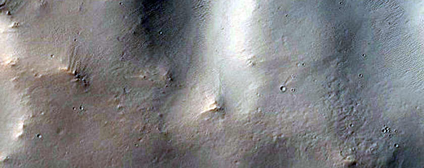 Channel Transversing Crater Ejecta in Arabia Terra
