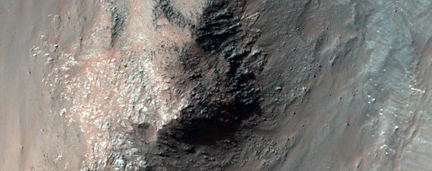 Light-Toned Material along Coprates Chasma Wallrock