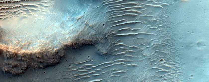 Eastern Crater Wall West of Tagus Valles