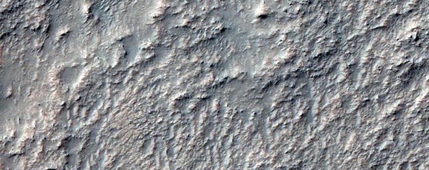 Newcomb Crater Floor Material