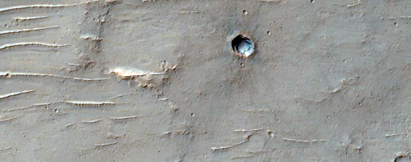 Wrinkle Ridge in Tyrrhena Terra