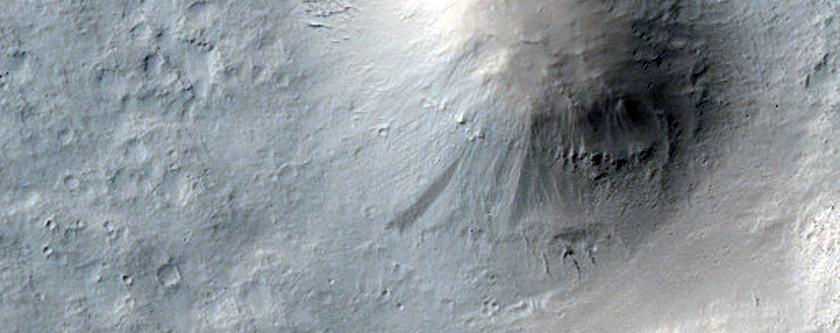 Hills Northwest of Eumenides Dorsum