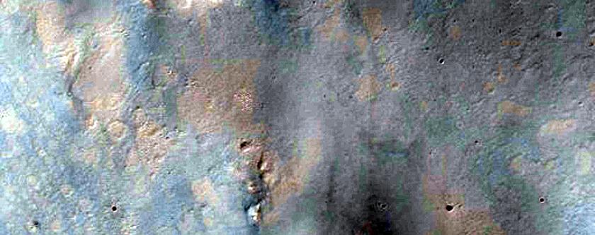 Dark Dunes in Impact Crater