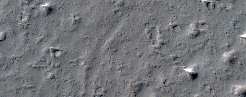 Curved Inlet in East Bank of Mangala Valles