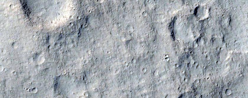 Hills West of Eumenides Dorsum
