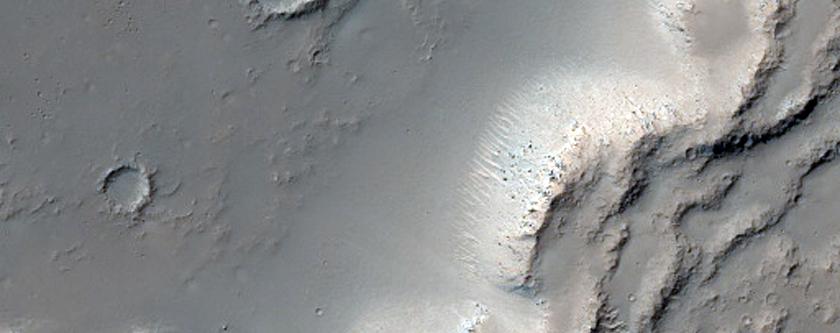 Sample of Lava Flow Boundary in Sirenum Fossae
