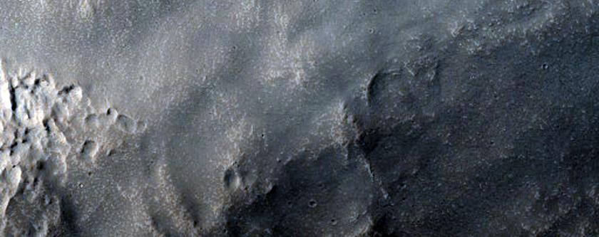 Dissected Mantle Terrain in Northern Arabia Region