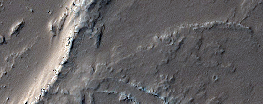 Small Shield Volcano East of Pavonis Mons