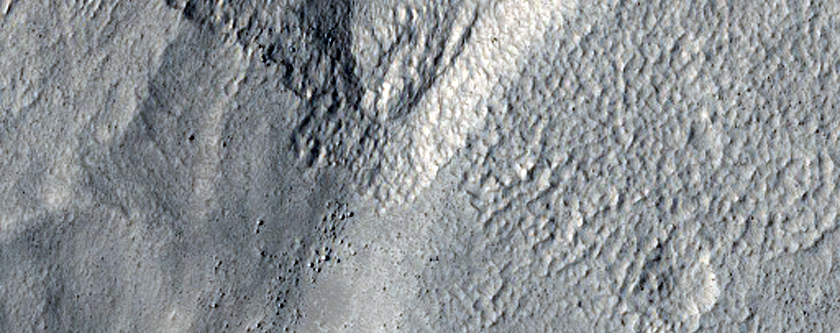 Gully at Erebus Montes
