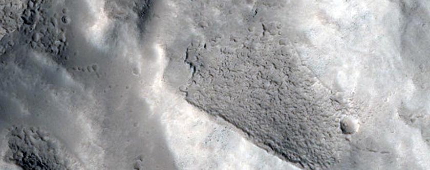 Crater Rim in Tempe Terra