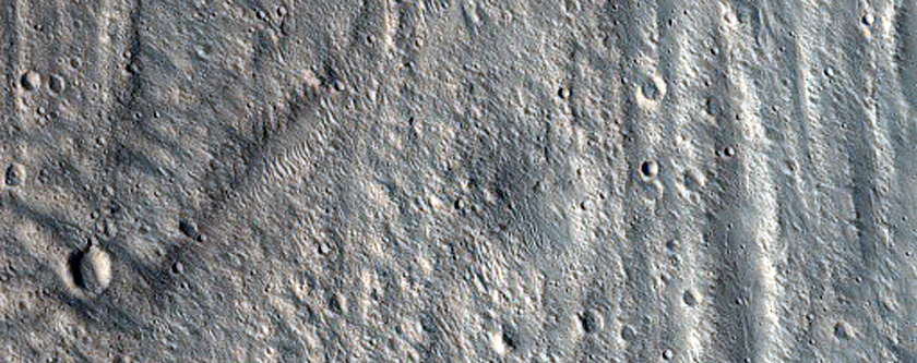 Landslide on North Wall of Montevallo Crater in THEMIS V26773021