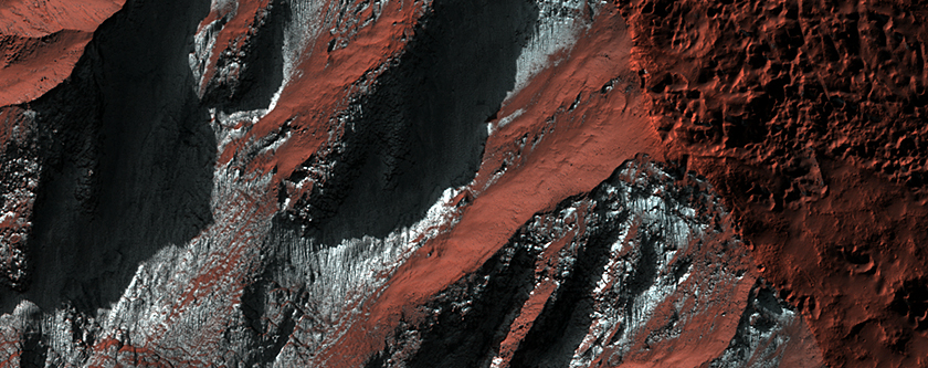Frosted Gully Landforms