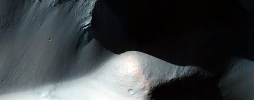 Central Peak of Impact Crater