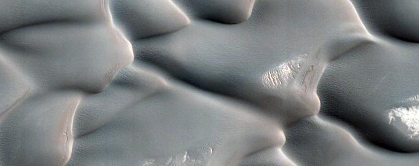 North Polar Gypsum Dune Changes