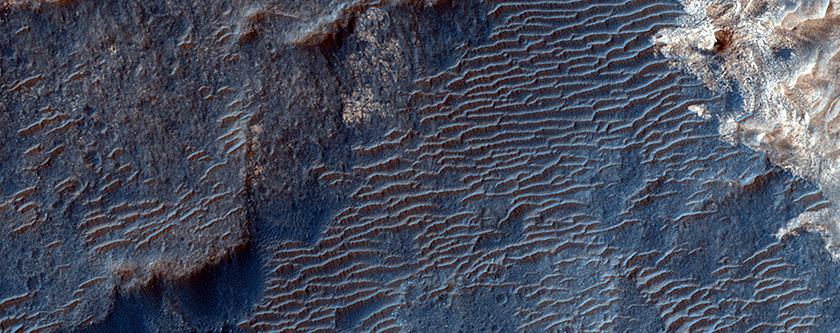 Sediments inside Aram Crater