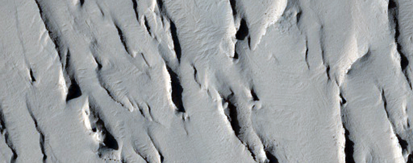 Layered Deposits Inside Impact Crater