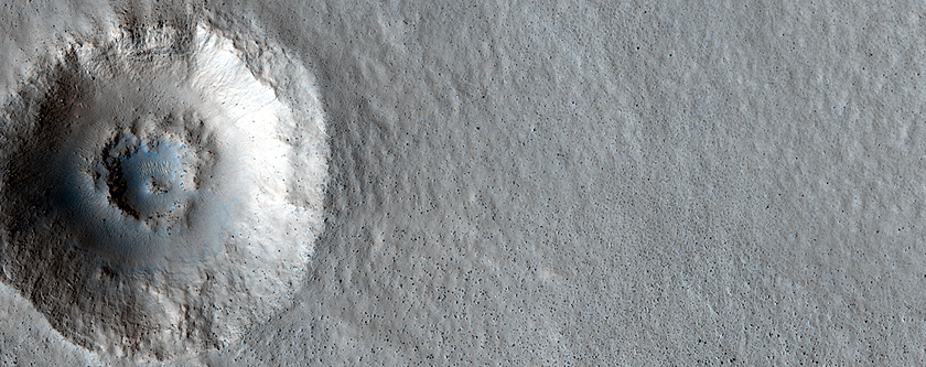 A Small, Double-Ringed Crater