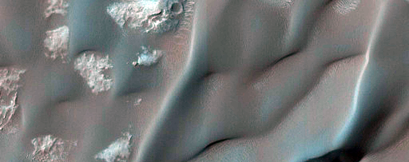 Gale Crater along Possible Traverse Route for MSL Rover