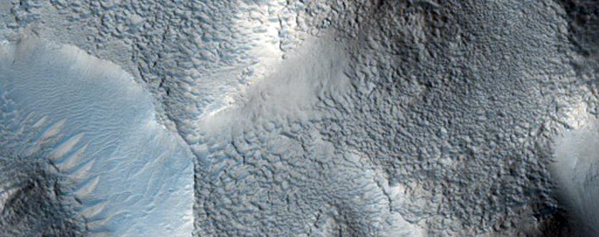 Possible Fan in Crater