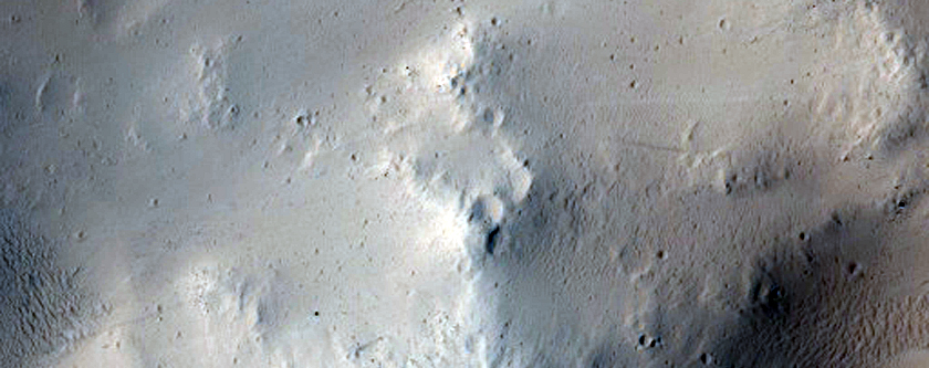 Sample of Partially Filled Crater in Arcadia Planitia
