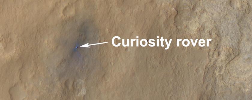 Curiosity, 6 jours après son atterrissage