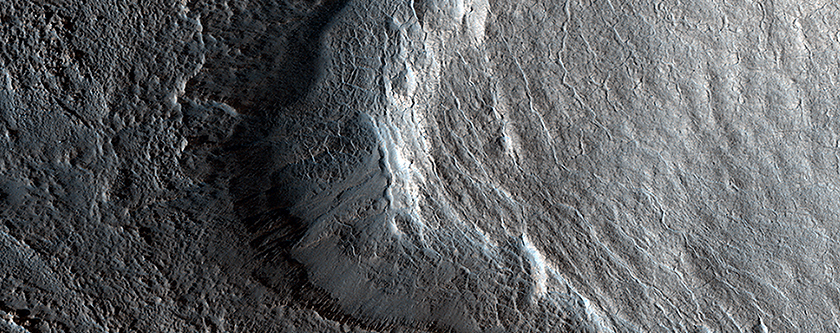 Remnants of a Viscous Flow on Mars