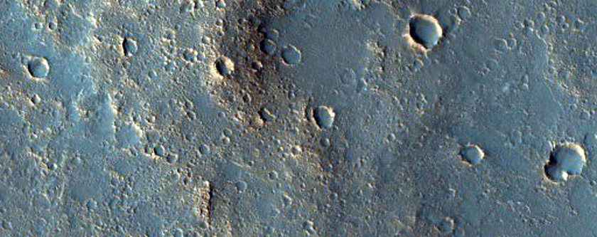 Sample Terrain inside Mclaughlin Crater