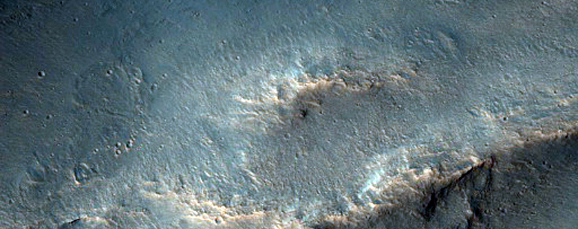 Collapse Structures South of Orson Welles Crater