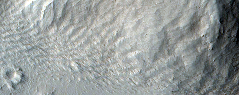 Hummock on Lower Flank of Olympus Mons