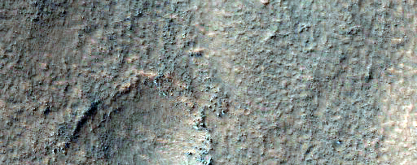 Cracks and Hollows Near Copernicus Crater
