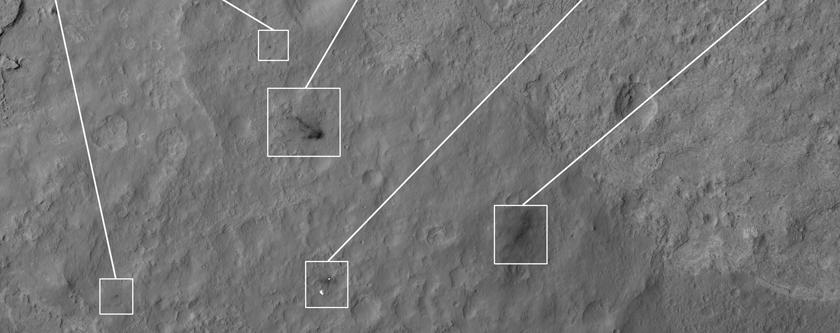 Vistas diferentes da Curiosity 12 dias após aterragem