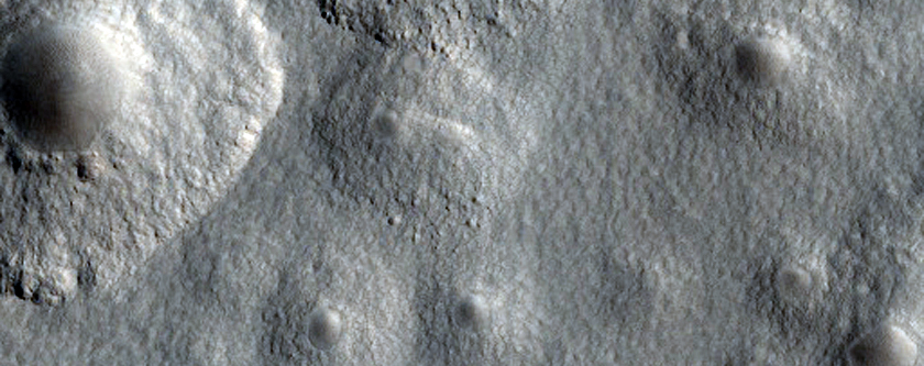 Expanded Craters Near Milankovic Crater