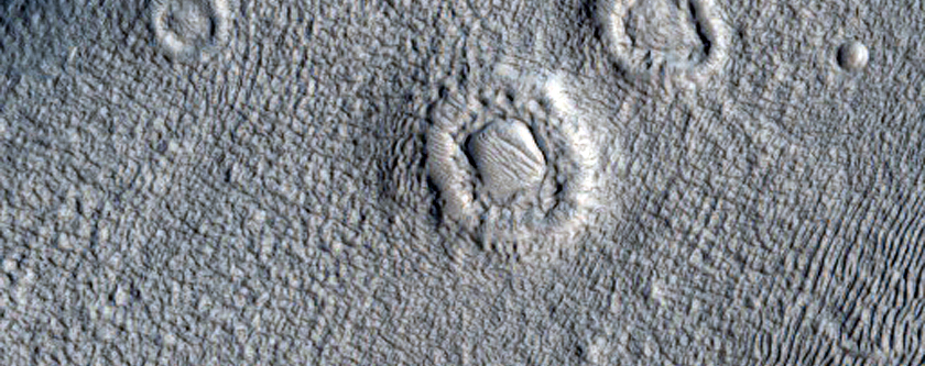 Channels inside a Crater in Arabia Terra